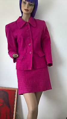 StreetLook Vintage 90s hot pink matching jacket and pencil mini skirt size 12/M