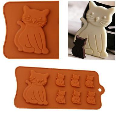 Kitten Cat Silicone Cake Mould Mold Fondant Icing Cup Cake Cup Modeling NEW -FI