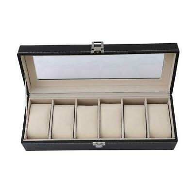1/6/10 Slot Watch Box Leather Display Case Organizer Glass Jewelry Storage - FI