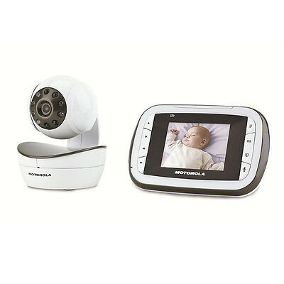 "Motorola MBP41 Remote Wireless Video Camera Baby Monitor 2.8"" LCD Night Vision"
