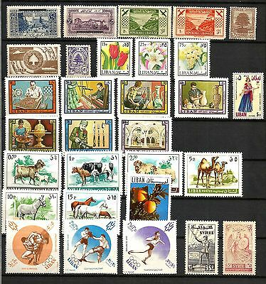 Lebanon M/UM stamps singles and short sets from old to middle, also one set from