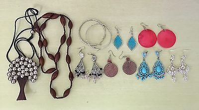 Bulk Buy Earrings Necklace Brown Turquoise Mixed Colours Bargain!!!
