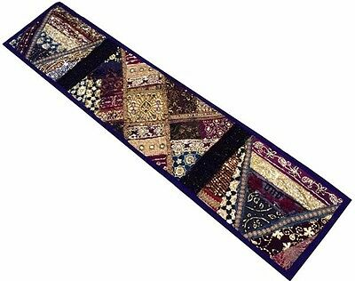 "60"" Indian Rare Sari Vintage Wall Décor Art Beaded Sequin Throw Tapestry Hanging"