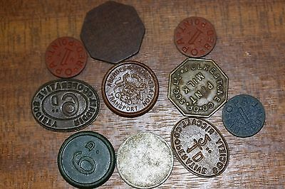 British Co Operative Tokens And Others X 10