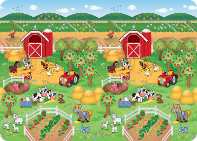 Jolly Kidz Roly Poly Mat Farm 130 X 180 X 1.2