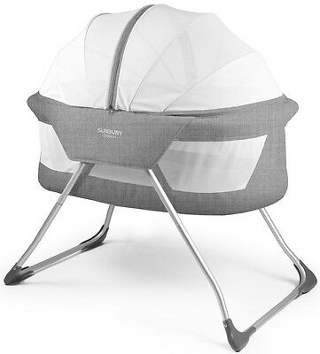 Sunbury Cocoon Bassinet - Grey