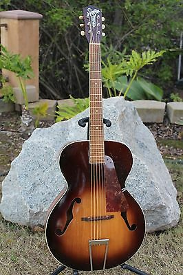 "Vintage 40s/50s Silvertone ""Wind Chime"" Acoustic Archtop Guitar Kay Solid Top!"