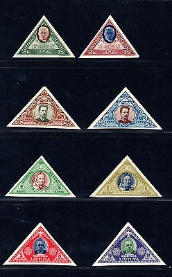 R062 Lithuania 1933 Set Of Imperf Stamps Mnh