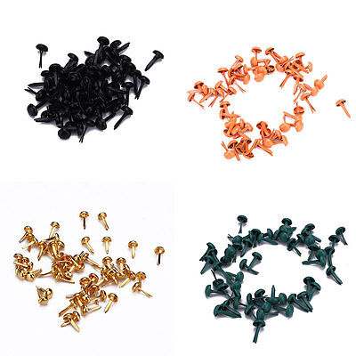 50pcs Multicolor Round Decorative Nails Mini Brad For Scrapbook Embellishments.