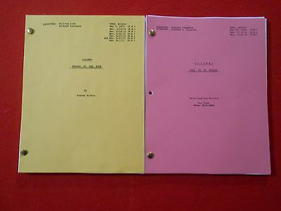2 scripts from the TV series Columbo starring Peter Falk