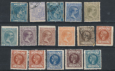 Collection Of Early Spanish  Purto Rico M.mint And Good Used