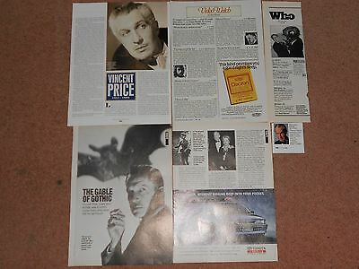 VINCENT PRICE Magazine Clippings