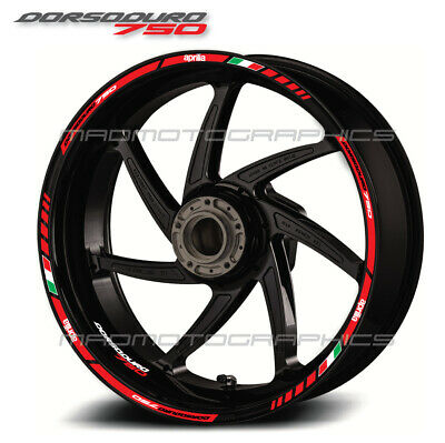 Dorsoduro 750 motorcycle wheel decals 12 rim stickers stripes aprilia Laminated