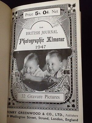 Rare Book - The BRITISH Journal Photographic Almanac 1947 Photography Cameras