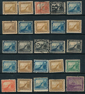 Collection Of Early Nicaragua M.mint And Good Used
