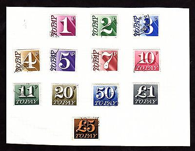 Stamps ~ GREAT BRITAIN POSTAGE DUE DECIMAL ~ Up to £5
