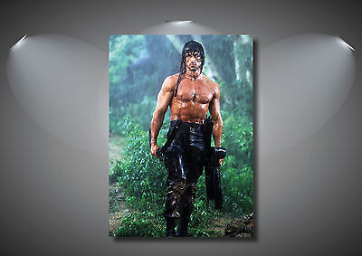 Rambo Sylvester Stallone Vintage Classic Movie Poster Art Print - A0 A1 A2 A3 A4