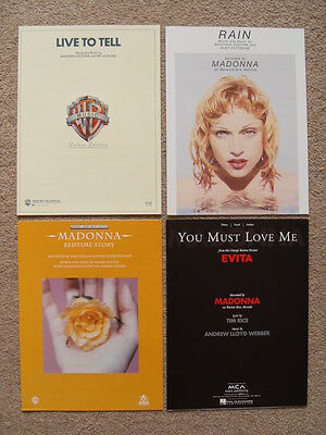 Madonna - USA Sheet Music - Live To Tell Rain Bedtime Story You Must Love - New