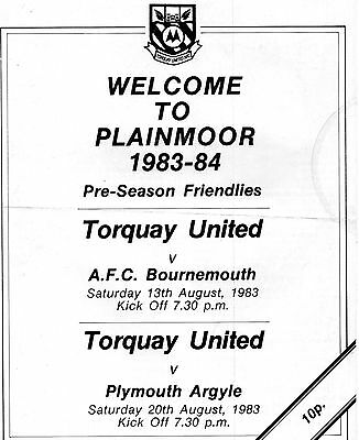 TORQUAY  v  BOURNEMOUTH AND PLYMOUTH (FR)  83/4