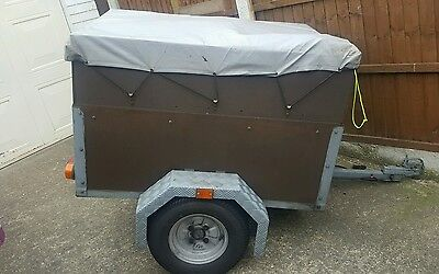"""Camping Trailer 4ft x 3ft x 26"""" with new tyres."""