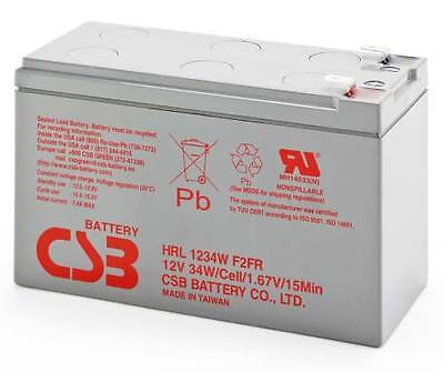 CSB HRL1234W 12V 9Ah 34W High Rate 8Yrs Long Service Life SLA UPS NBN Battery