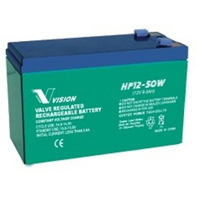 Vision HP12-50W 12V 9Ah 50W High Rate UPS Sealed Lead Acid Battery