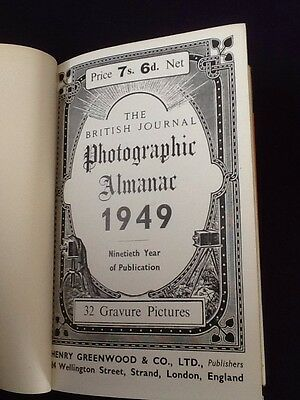 Rare Book - The BRITISH Journal Photographic Almanac 1949 Photography Cameras