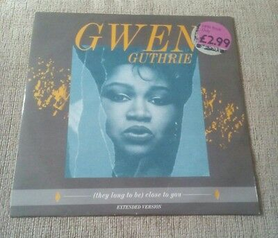 """Gwen Guthrie (they long to be) Close to you 12"""" vinyl POSPX 823"""