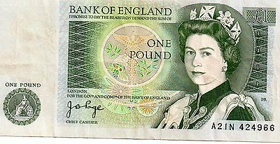 bank of england one pound. J.B.PAGE