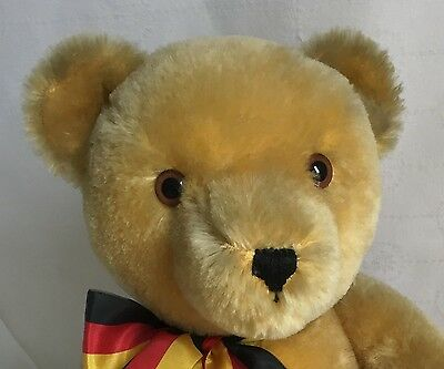 """Hermann Limited Edition Unification Jointed Mohair Bear 1990 18"""" 3153 Of 4000"""
