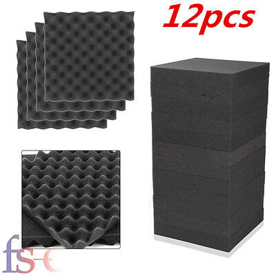 12X Acoustic Egg Panels Tiles Studio Sound Proofing Insulation Closed Cell Foam