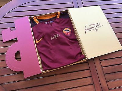 Totti As Roma Cofanetto 2016 Signed Match Issued Worn Shirt Maglia  Futbol