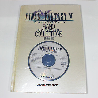 FINAL FANTASY V 5 PIANO COLLECTIONS Score Book w/CD F/S Japan