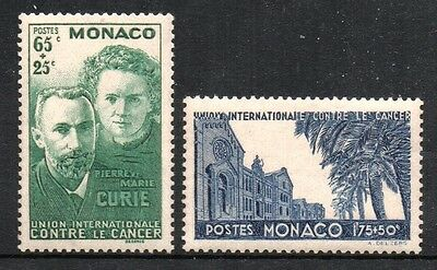[MoB024]  MONACO 1938 Pierre and Marie Curie Issue MNH