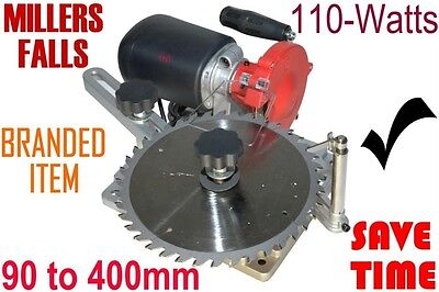 Blade Sharpener Millers Falls 90 to 400mm 240-volt = Sharpen blunt blades & save