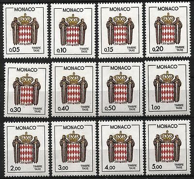 [MoJ077]  MONACO 1985-86 POSTAGE DUE STAMPS Issue MNH