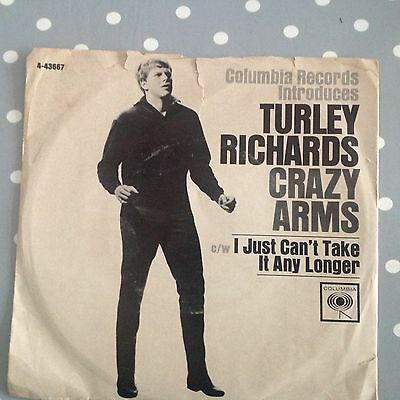Turley Richards - Crazy Arms /  I Just Can't Take It Longer-Columbia  4-44079.