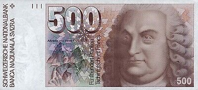 Schweiz / Switzerland 500 Franken 1992 Pick 58c (1)