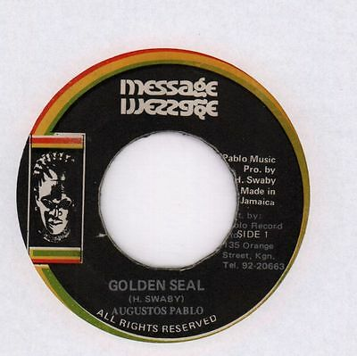 "Augustos Pablo/ Soul Syndicate Band(7"" Vinyl)Golden Seal/ Myhrr In Dub-Ex/G+"