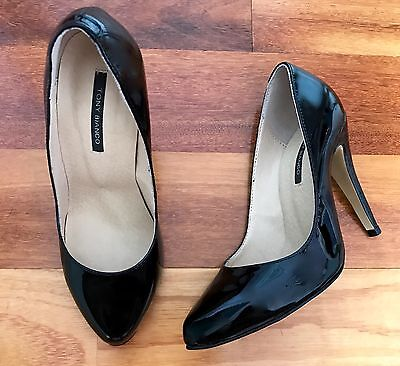 Tony Bianco Black Patent Leather Heels Size 5 ***Free Delivery***