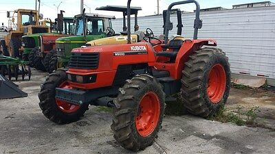 2002 Kubota M9000 4x4 Farm Tractor 90 HP - Ready to work - New Front Tires