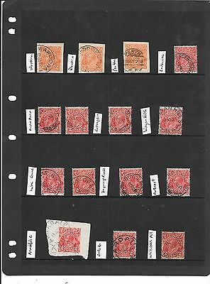 Western Australia  Georges lot 3 cancels page used nice