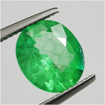 4.60ct Excellent Diffusion Colombian Green Emerald Chathum Oval Lab