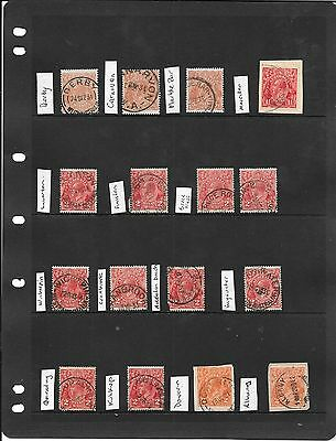 Western Australia  Georges lot 4 cancels page used nice