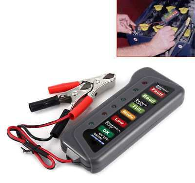 T16897 12V Voiture Testeur de Charge Batterie et d' alternateur 6 LED Portable