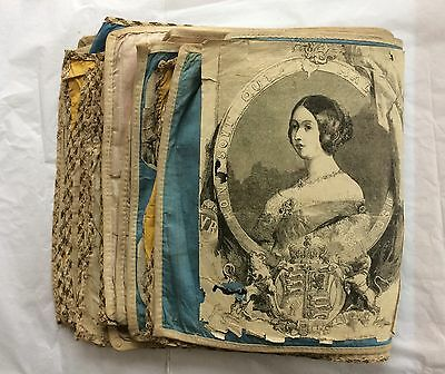 Victorian 1840 Cloth Scrapbook Unique Rare Political Theme 30 Pages 100+ Images
