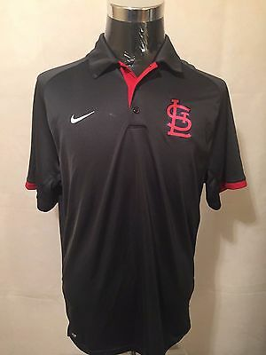 MLB St. Louis Cardinals LGE Grey Authentic Collection Men's Elite Polo by NIKE