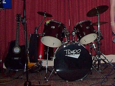 Tempo Drum kit with cymbols and fold up chair