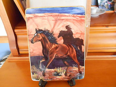 Franklin Mint Plate Mystery Rider Thunder In The Canyon Collection