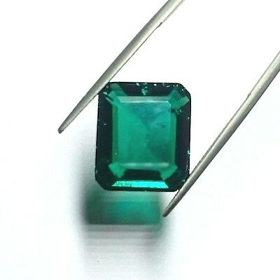 Hydrothermal Emerald 8.4ct, octagon step 14x12 with inclusions.